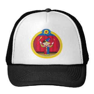 Cartoon Juggling Circus Clown Trucker Hat