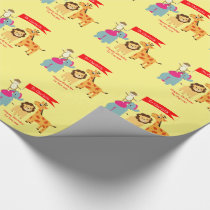 Cartoon Jungle Animals Happy Birthday Personalized Wrapping Paper