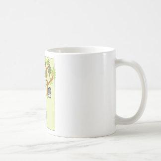 Cartoon Jungle (Lion, Zebra) Classic White Coffee Mug