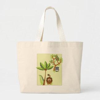 Cartoon Jungle (Lion, Zebra) Tote Bags