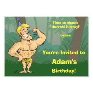 Cartoon Jungle Party - Fun Birthday Invitation