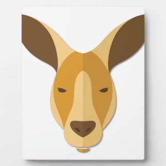 Cartoon Kangaroo Head Plaque