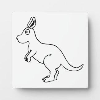 Cartoon Kangaroo Photo Plaques