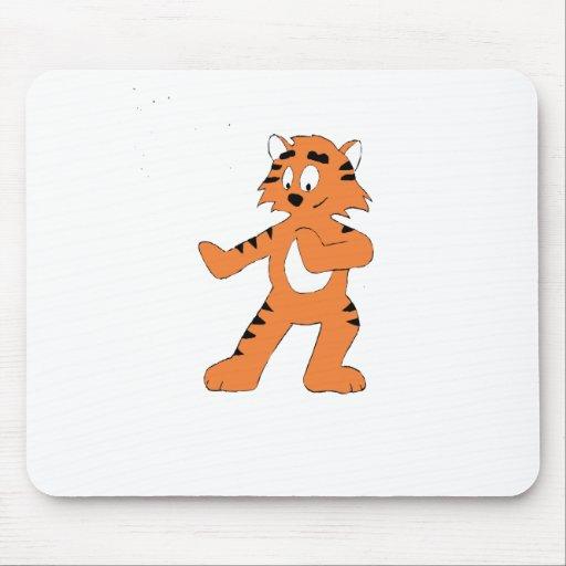 Cartoon Karate Tiger Mousepad