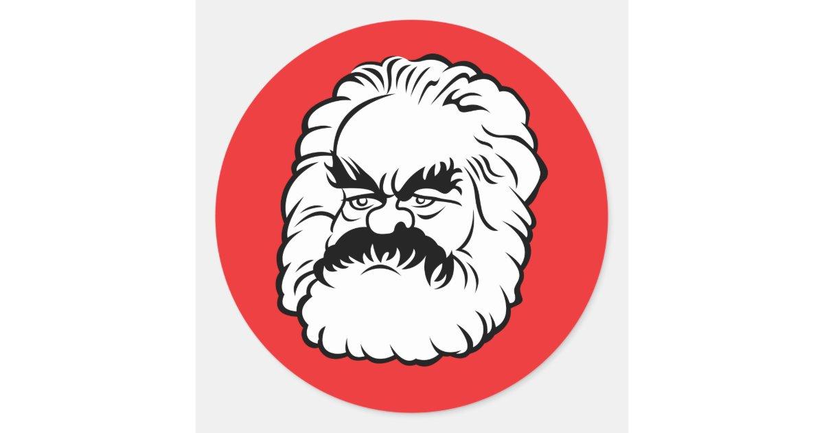 Cartoon Karl Marx Sticker Red Zazzle