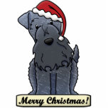 Cartoon Kerry Blue Terrier Christmas Ornament Cut Outs
