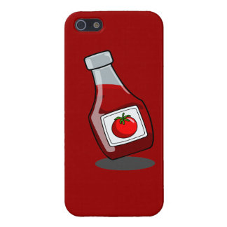 Cartoon Ketchup Bottle Cover For iPhone SE/5/5s