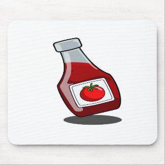 Cartoon Ketchup Bottle Mousepad