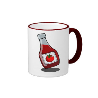 Cartoon Ketchup Bottle Mug