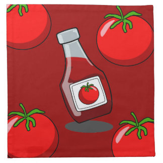 Cartoon Ketchup Bottle Napkin