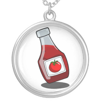 Cartoon Ketchup Bottle Necklace