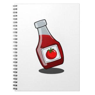 Cartoon Ketchup Bottle Notebook