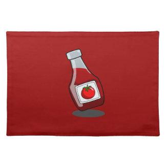 Cartoon Ketchup Bottle Placemat