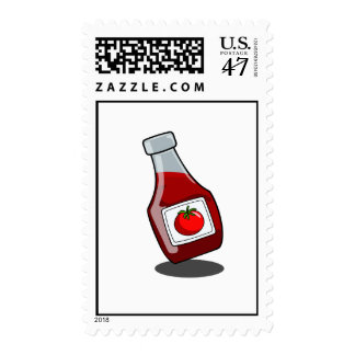 Cartoon Ketchup Bottle Postage