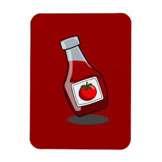 Cartoon Ketchup Bottle Rectangular Photo Magnet