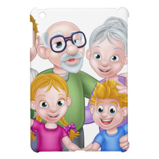 Cartoon Kids Parents and Grandparents Cover For The iPad Mini