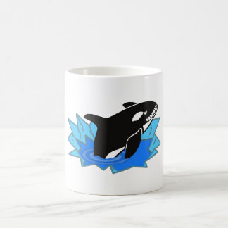 Cartoon Killer Whale/Orca Leaping Out of the Water Coffee Mug