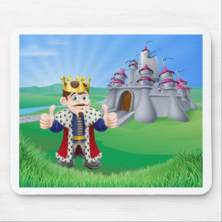 Cartoon King and Castle Mouse Mat