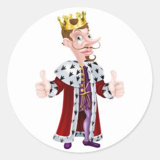 Cartoon King Character Classic Round Sticker