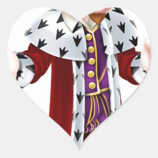 Cartoon King Heart Sticker
