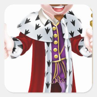 Cartoon King Square Sticker