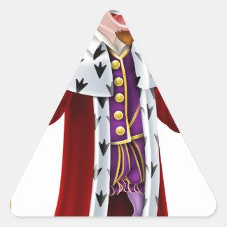 Cartoon King Triangle Sticker