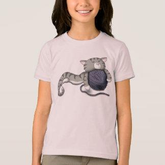 Cartoon Kitty with ball of yarn T-Shirt