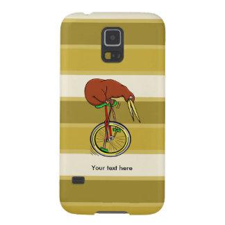 Cartoon Kiwi Bird Unicyling Case For Galaxy S5