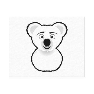 Cartoon Koala Bear Gallery Wrap Canvas
