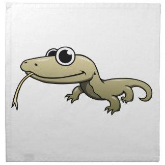Cartoon Komodo Dragon Napkin