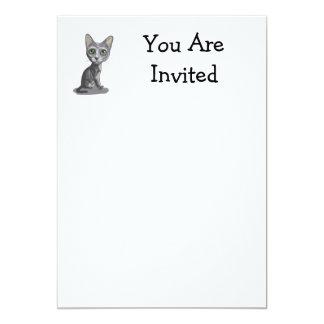 Cartoon Korat 5x7 Paper Invitation Card