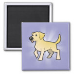 Cartoon Labrador Retriever 2 Inch Square Magnet