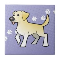 Cartoon Labrador Retriever Ceramic Tile