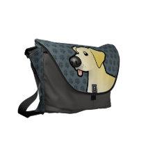 Cartoon Labrador Retriever Courier Bag