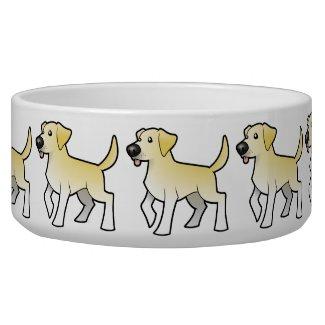 Cartoon Labrador Retriever Dog Water Bowls