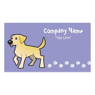 Cartoon Labrador Retriever Double-Sided Standard Business Cards (Pack Of 100)