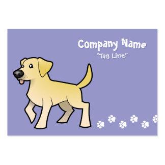 Cartoon Labrador Retriever Large Business Cards (Pack Of 100)