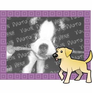Cartoon Labrador Retriever Photo Frame Statuette