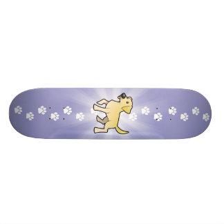 Cartoon Labrador Retriever Skateboard Deck