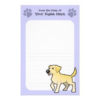 Cartoon Labrador Retriever Personalized Stationery