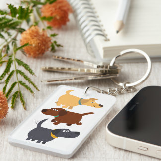 Cartoon Labradors in 3 Flavours Acrylic Keychain