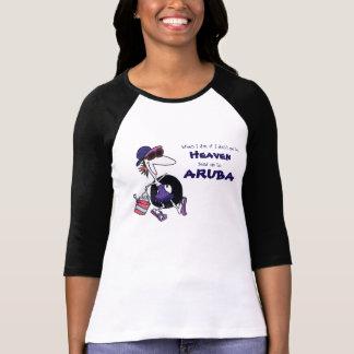 Cartoon Lady Beach-goer, Send me to Aruba T-Shirt