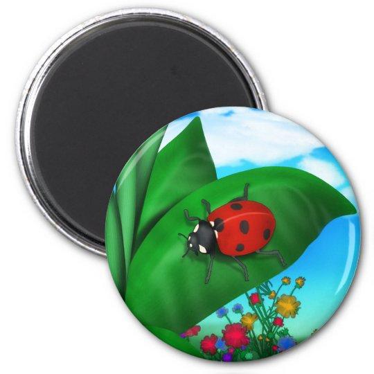 Cartoon Lady Bug Magnet