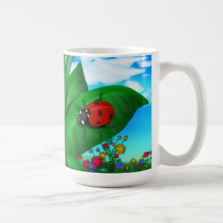 Cartoon Lady Bug Mugs