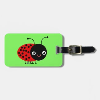 Cartoon Ladybug, also known as Ladybird Bag Tag