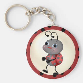 Cartoon Ladybug key chain