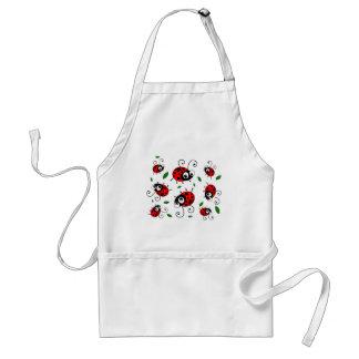 Cartoon ladybugs pattern adult apron