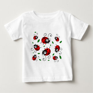 Cartoon ladybugs pattern baby T-Shirt