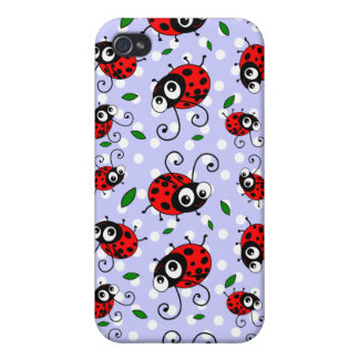 Cartoon ladybugs pattern iPhone 4 case