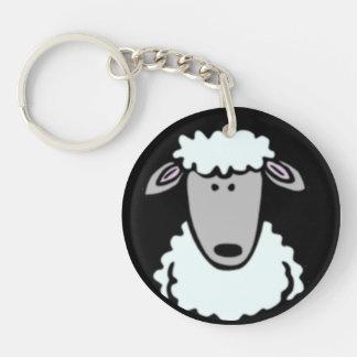 Cartoon Lamb Face Keychain